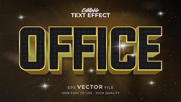 Efeito de estilo de texto editável - tema de estilo de texto office retro