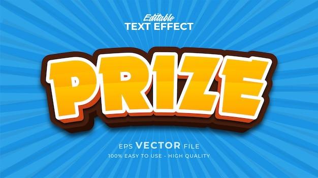 Efeito de estilo de texto editável - tema de estilo de texto premiado