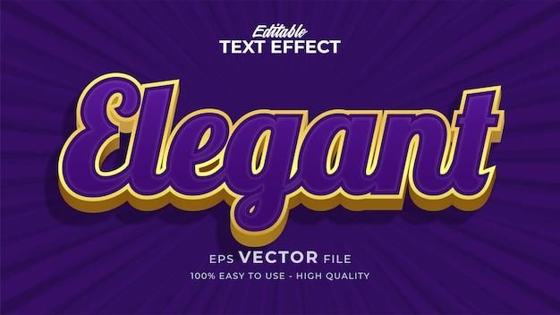Efeito de estilo de texto editável - tema de estilo de texto retro elegante