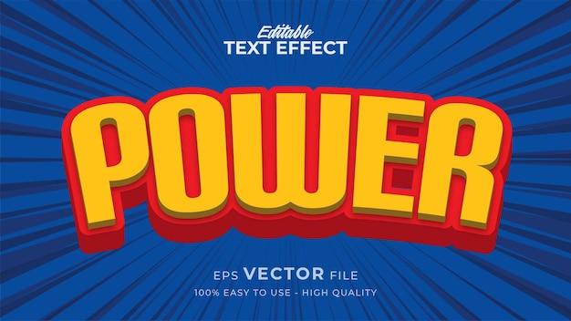 Efeito de estilo de texto editável - tema de estilo de texto retrô em quadrinhos