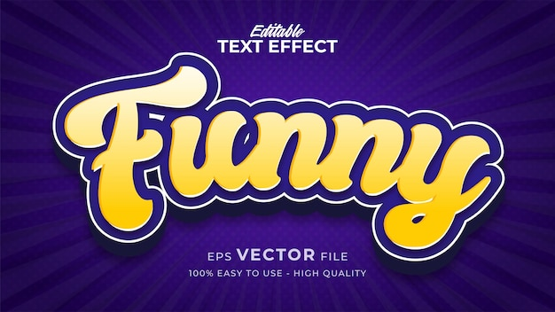 Efeito de estilo de texto editável - tema de estilo de texto retro engraçado