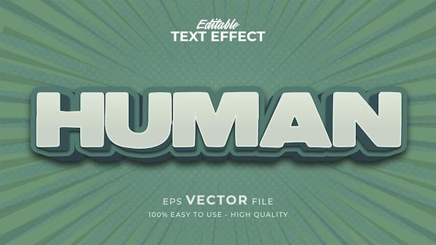 Efeito de estilo de texto editável - tema de estilo de texto retro humano