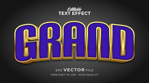 Efeito de estilo de texto editável - tema de estilo de texto retrô