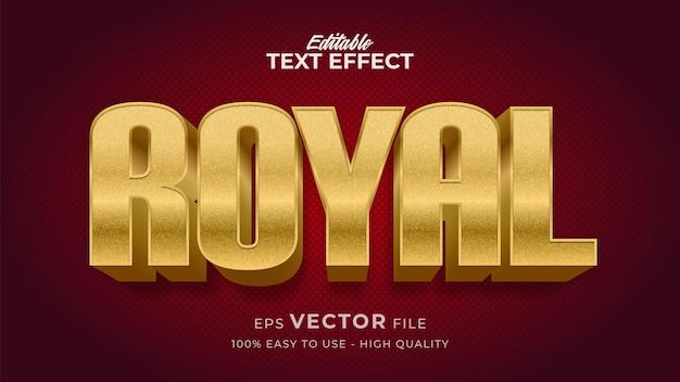 Efeito de estilo de texto editável - tema de estilo de texto royal retro