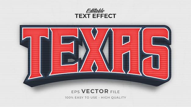 Efeito de estilo de texto editável - tema de estilo de texto texas retro