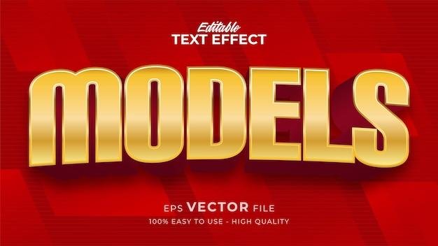 Efeito de estilo de texto editável - tema de estilo de texto vermelho e dourado