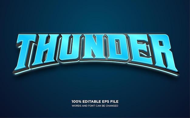 Efeito de estilo de texto editável thunder