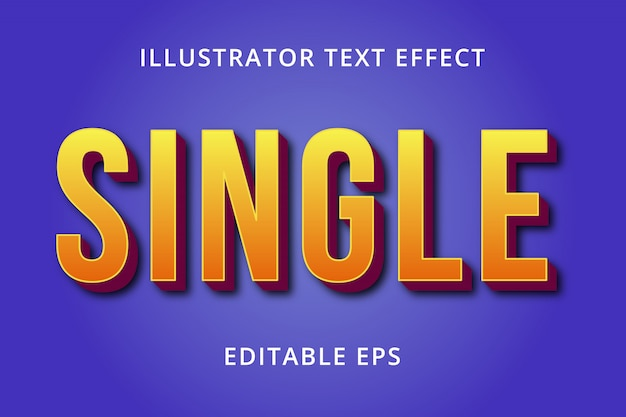Efeito de estilo de texto editável único