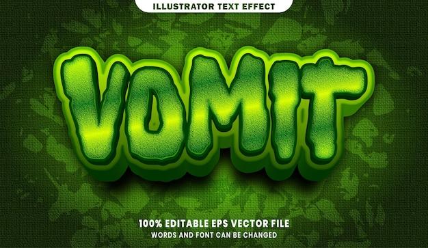 Efeito de estilo de texto editável vomit 3d