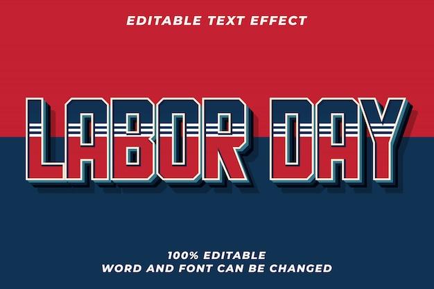 Efeito de estilo de texto em azul vermelho premium