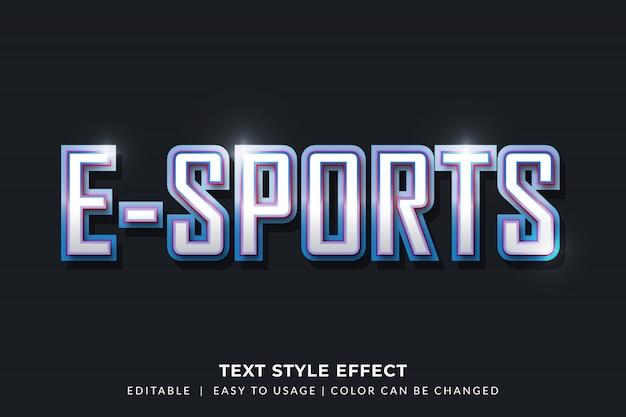 Efeito de estilo de texto em bisel 3d para identidade de jogador