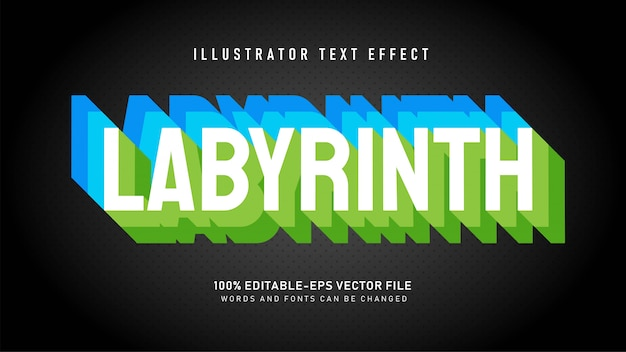 Efeito de estilo de texto em camadas de labirinto