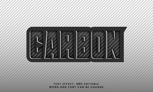 Efeito de estilo de texto em carbono