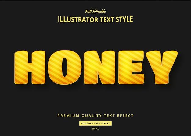 Efeito de estilo de texto em mel 3d