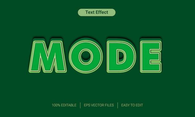 Efeito de estilo de texto em modo verde