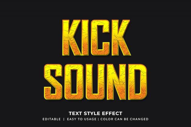 Efeito de estilo de texto em negrito amarelo para o tema música