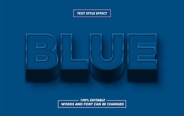 Efeito de estilo de texto em negrito azul clássico