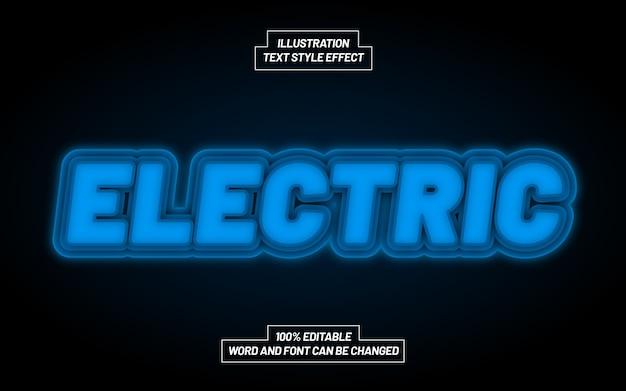 Efeito de estilo de texto em negrito elétrico