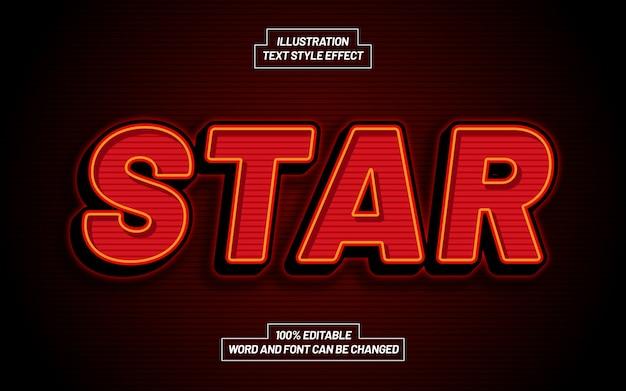 Efeito de estilo de texto em negrito estrela
