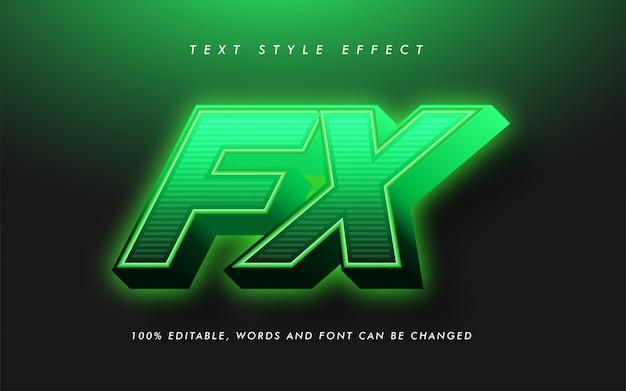 Efeito de estilo de texto em negrito fx verde