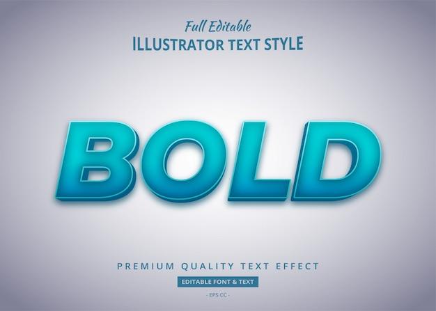 Efeito de estilo de texto em negrito gradiente premium