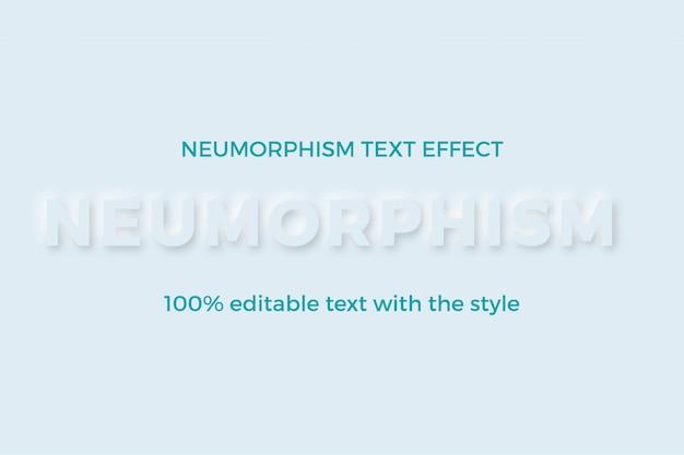 Efeito de estilo de texto em negrito moderno neumorfismo 3d