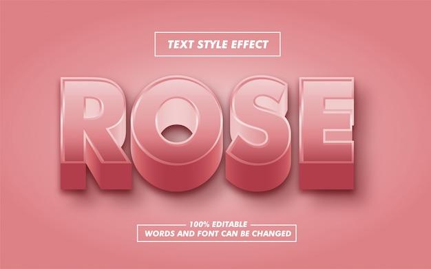 Efeito de estilo de texto em negrito rosa
