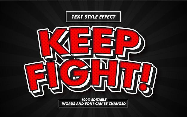 Efeito de estilo de texto em negrito vermelho