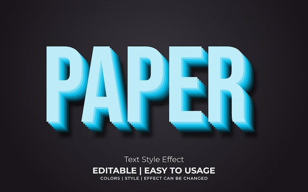 Efeito de estilo de texto em papel azul