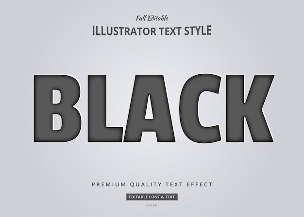 Efeito de estilo de texto em papel preto