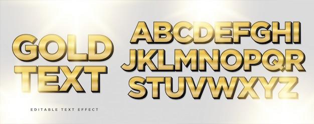 Efeito de estilo de texto em preto ouro
