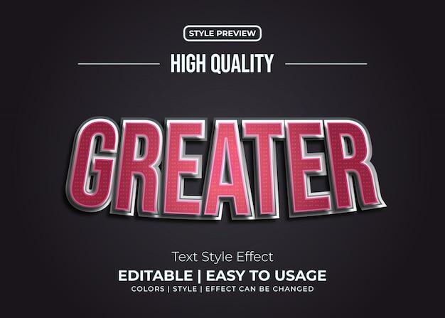 Efeito de estilo de texto em vermelho e prata em relevo