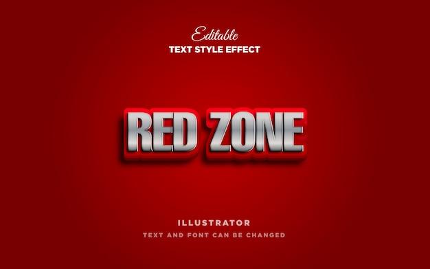 Efeito de estilo de texto em vermelho
