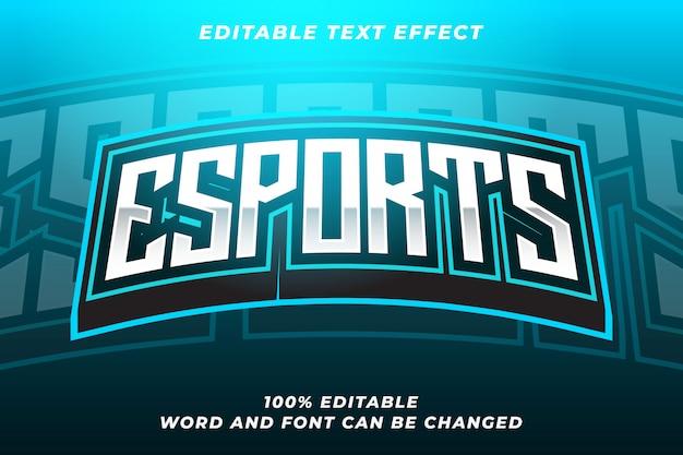Efeito de estilo de texto esport