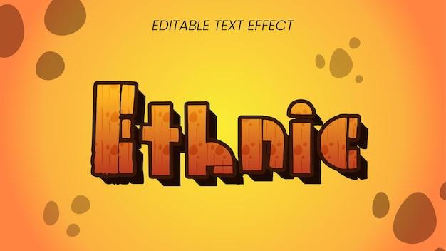 Efeito de estilo de texto étnico
