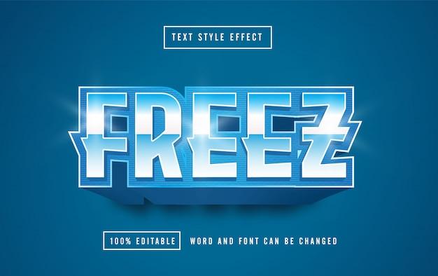 Efeito de estilo de texto freez editável