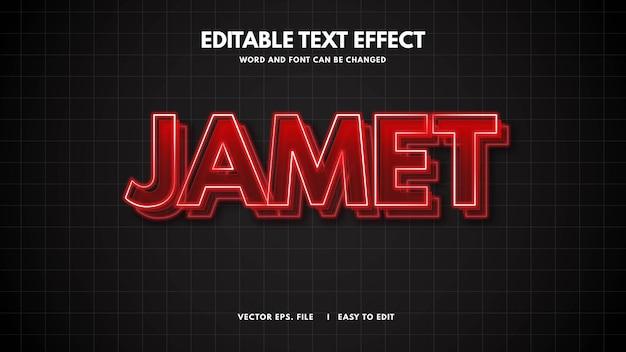 Efeito de estilo de texto futurista de luz 3d