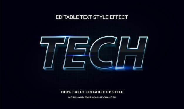 Efeito de estilo de texto futurista. texto editável