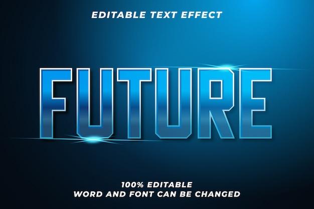 Efeito de estilo de texto futuro