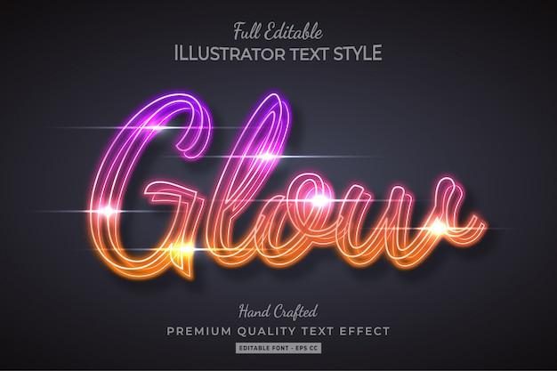 Efeito de estilo de texto galaxy premium