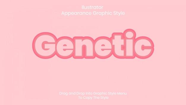 Efeito de estilo de texto genético