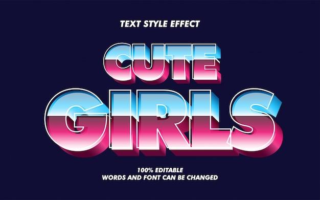 Efeito de estilo de texto gradiente à moda antiga