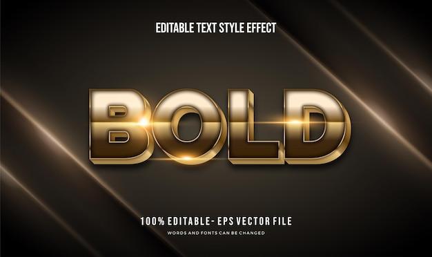 Efeito de estilo de texto ilustrador moderno de cor ouro brilhante,