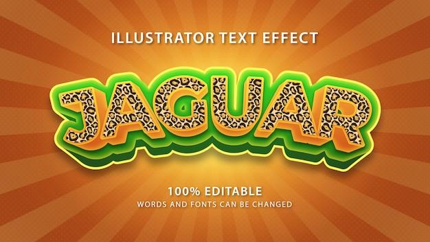 Efeito de estilo de texto jaguar, texto editável