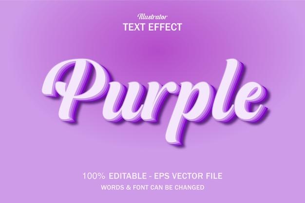 Efeito de estilo de texto lilás roxo