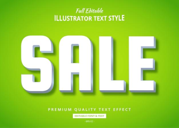Efeito de estilo de texto limpo 3d de venda