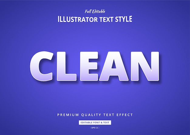 Efeito de estilo de texto limpo