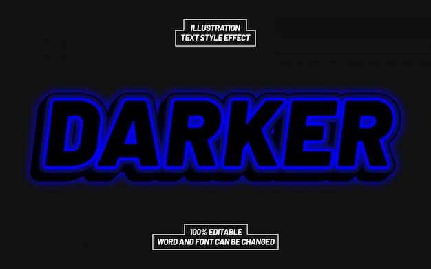 Efeito de estilo de texto mais escuro