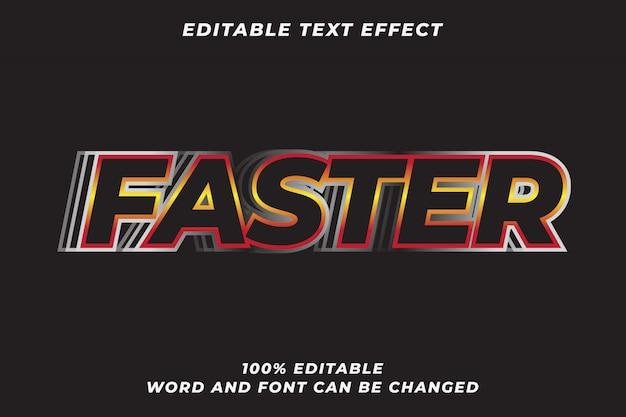 Efeito de estilo de texto mais rápido