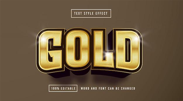 Efeito de estilo de texto marrom dourado editável